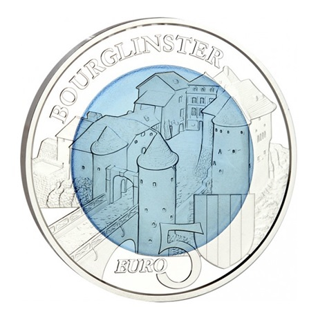 5 euro Luxembourg 2019 Proof silver and niobium - Bourglinster castle Reverse