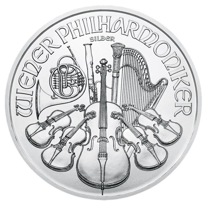 (EUR01.150.2019.1.ag_.bullco.24361) 1.50 euro Austria 2019 1 ounce fine silver - Philharmonic Reverse (zoom)