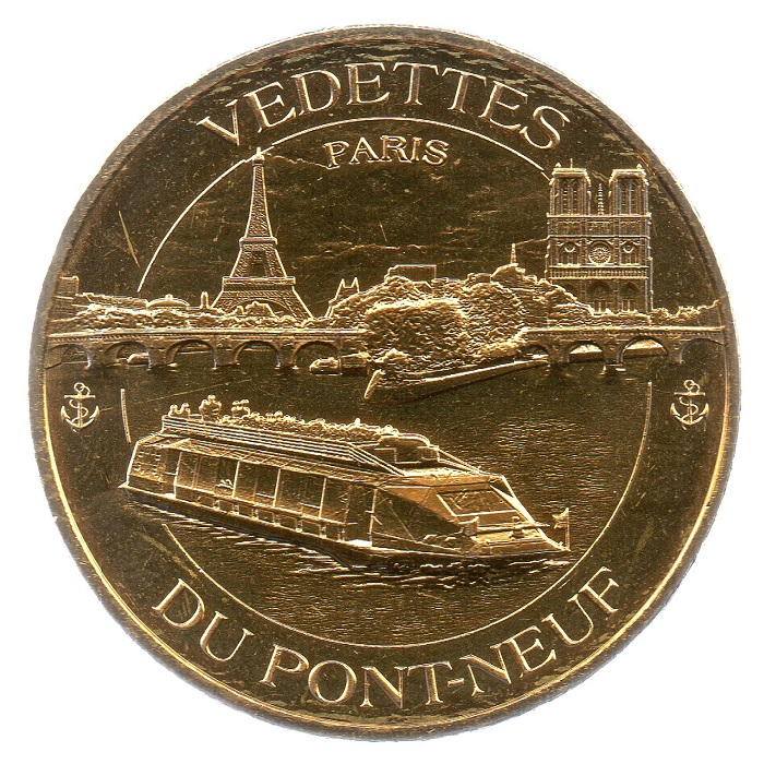 (FMED.Méd.tourist.2018.CuAlNi5.spl_.000000001) Tourism token - Cruises on the Seine Obverse (zoom)