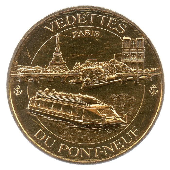 (FMED.Méd.tourist.2018.CuAlNi5.spl_.000000001) Tourism token - Cruises on the Seine Obverse (zoom)