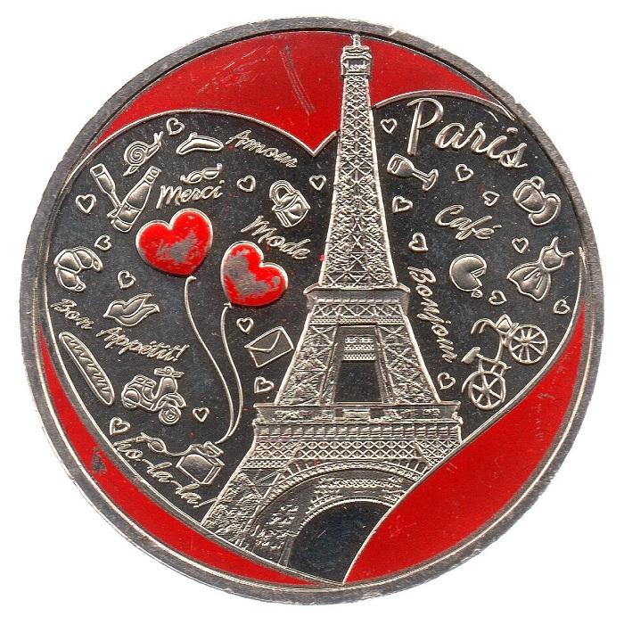 (FMED.Méd.tourist.CuNi1_.sup_.000000002) Tourism token - Paris City Obverse (zoom)