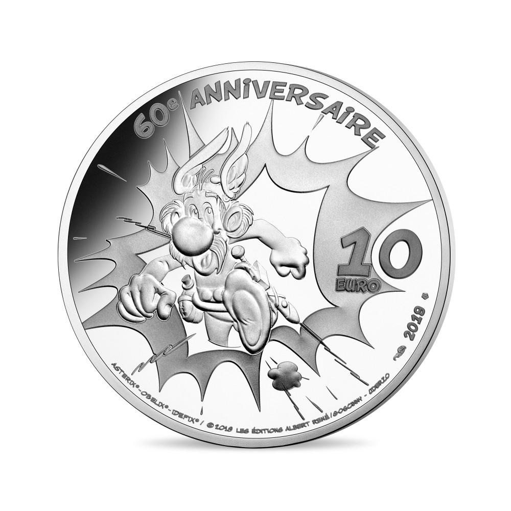 10 euro France 2019 Proof silver - Asterix Reverse (zoom)