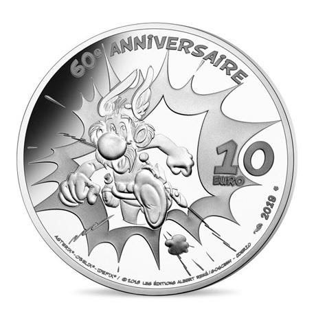 10 euro France 2019 argent BE - Astérix Revers