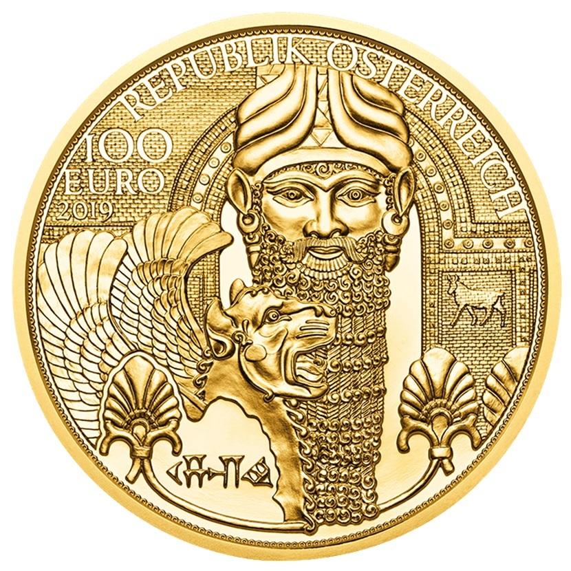 100 euro Austria 2019 Proof gold - The gold of Mesopotamia Obverse (zoom)