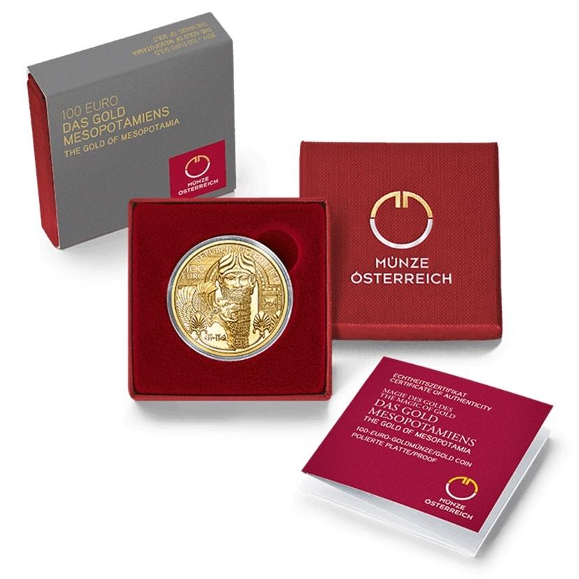 100 euro Austria 2019 Proof gold - The gold of Mesopotamia (box) (zoom)