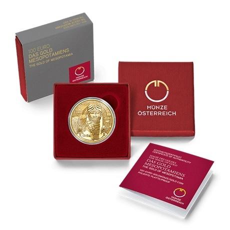100 euro Autriche 2019 or BE - Or de Mésopotamie (écrin)
