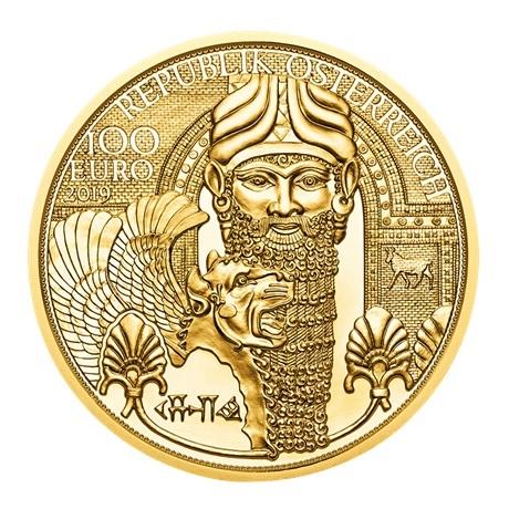 100 euro Autriche 2019 or BE - Or de Mésopotamie Avers
