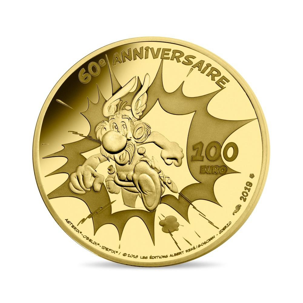 100 euro France 2019 Proof gold - Asterix Reverse (zoom)
