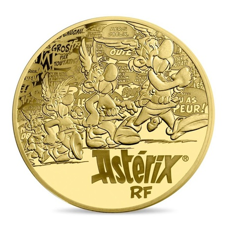 100 euro France 2019 or BE - Astérix Avers
