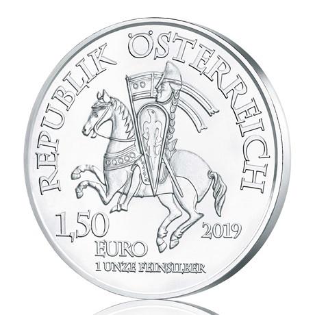1,50 euro Autriche 2019 1 once argent - Robin des Bois Avers