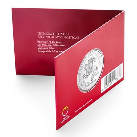 1,50 euro Autriche 2019 1 once argent - Robin des Bois (verso blister)
