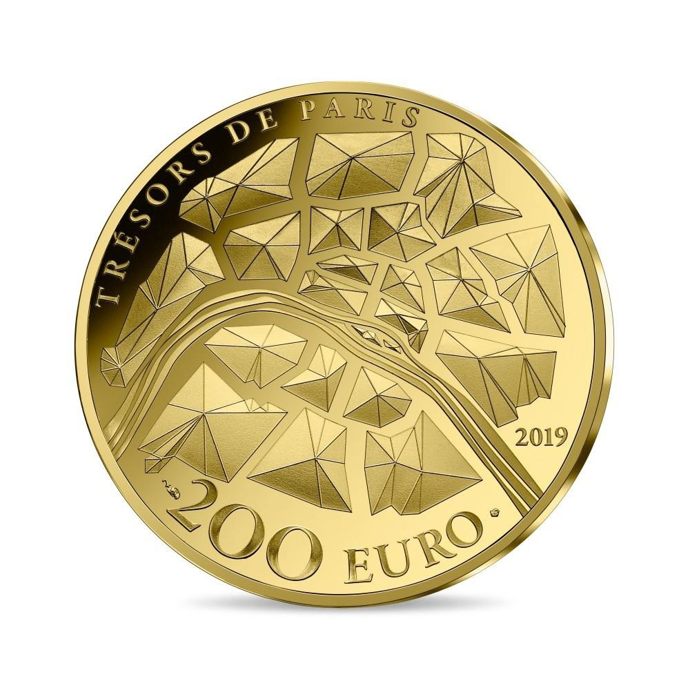 200 euro France 2019 Proof gold - Eiffel Tower Reverse (zoom)