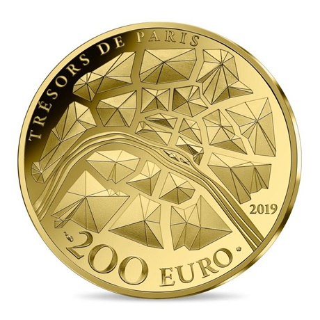 200 euro France 2019 or BE - Tour Eiffel Revers