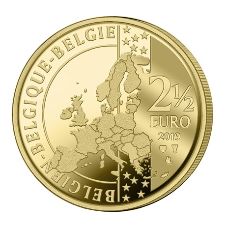 2,5 euro Belgique 2019 BU - Manneken Pis Avers