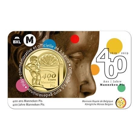 2,5 euro Belgique 2019 Brillant Universel - Manneken Pis - Légende française Recto