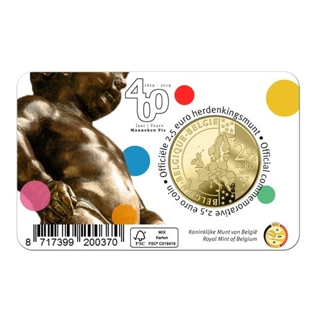 2,5 euro Belgique 2019 Brillant Universel - Manneken Pis - Légende française Verso