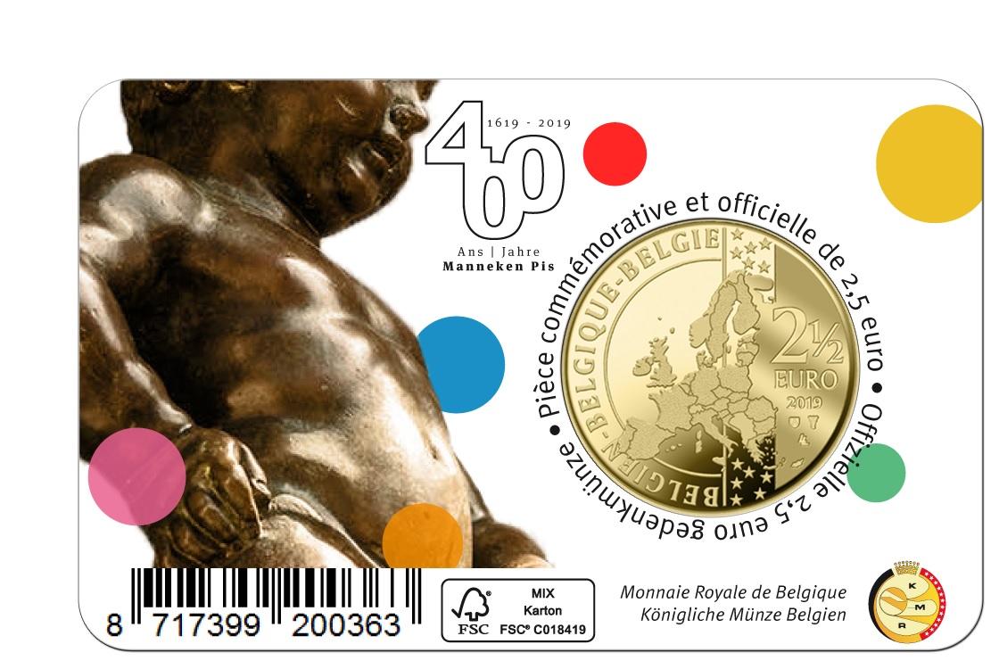 2,50 euro Belgium 2019 BU - Manneken Pis - Flemish legend Back (zoom)