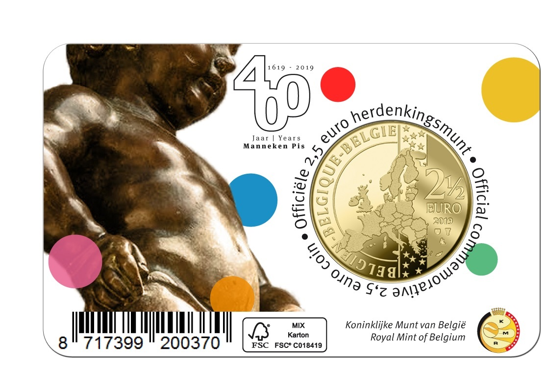 2,50 euro Belgium 2019 BU - Manneken Pis - French legend Back (zoom)