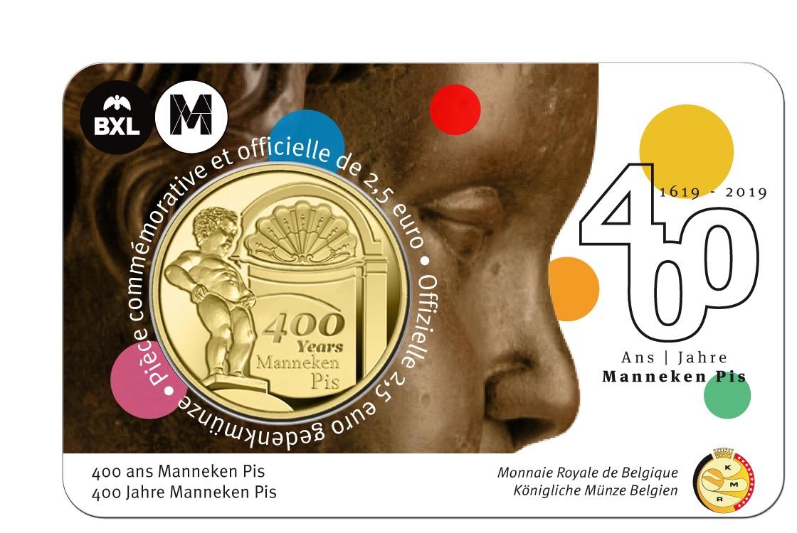 2,50 euro Belgium 2019 BU - Manneken Pis - French legend Front (zoom)