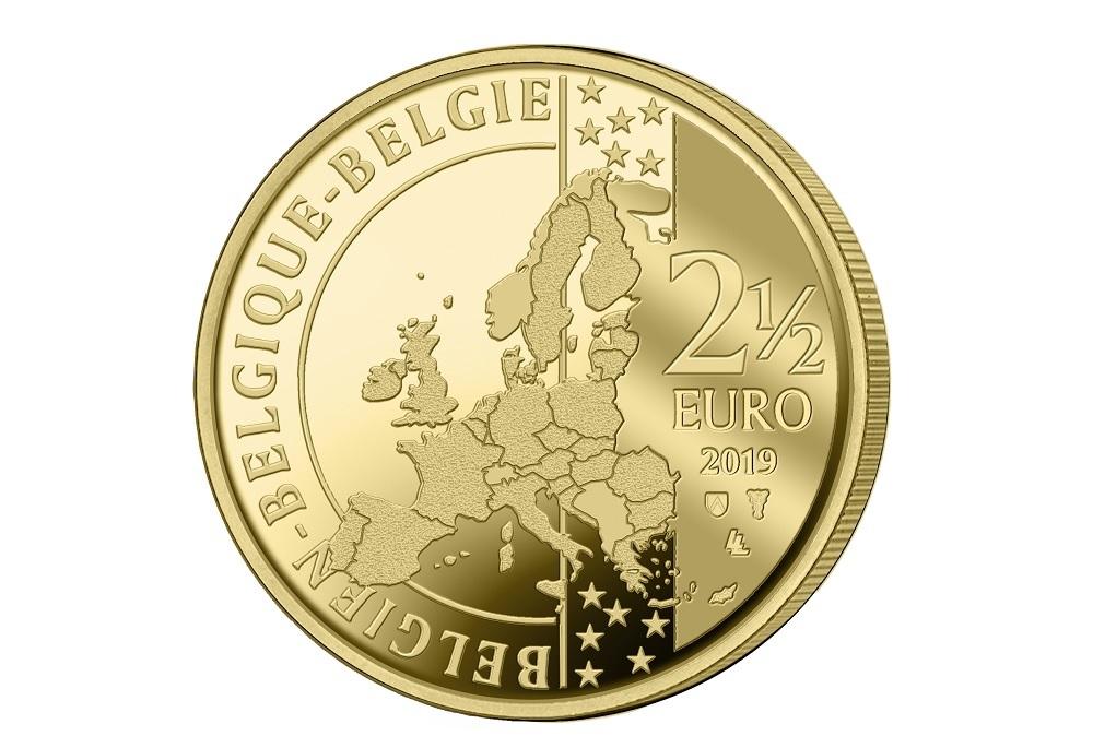 2,50 euro Belgium 2019 BU - Manneken Pis Obverse (zoom)