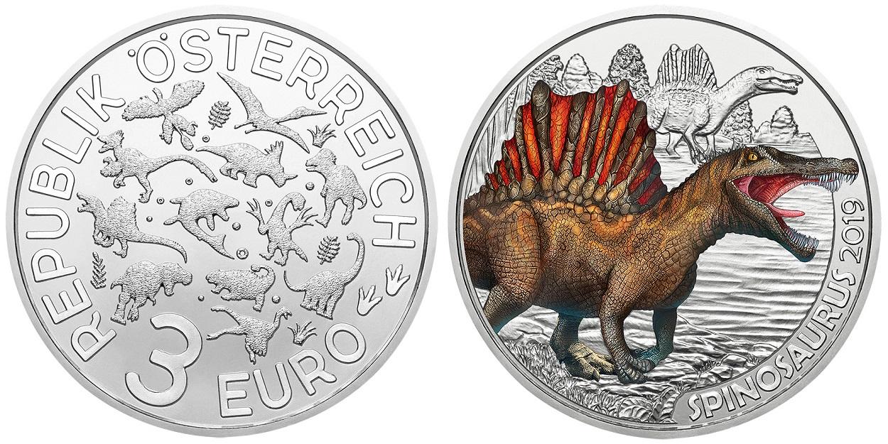 3 euro Austria 2019 - Spinosaurus Reverse (zoom)