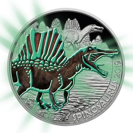 3 euro Autriche 2019 - Spinosaure Revers (brillant dans le noir)