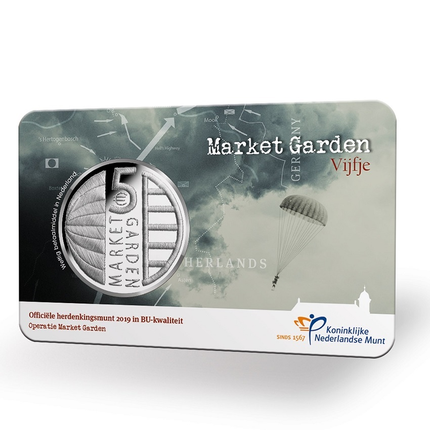 5 euro Netherlands 2019 Brilliant Uncirculated - Operation Market Garden Reverse (zoom)