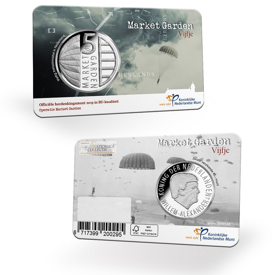 5 euro Netherlands 2019 Brilliant Uncirculated - Operation Market Garden (coin card) (zoom)