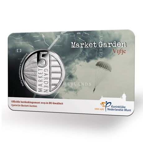 5 euro Pays-Bas 2019 BU - Opération Market Garden (coin card)