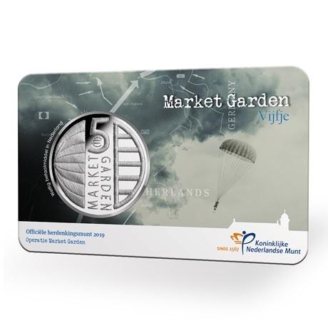 5 euro Pays-Bas 2019 UNC - Opération Market Garden (coin card)