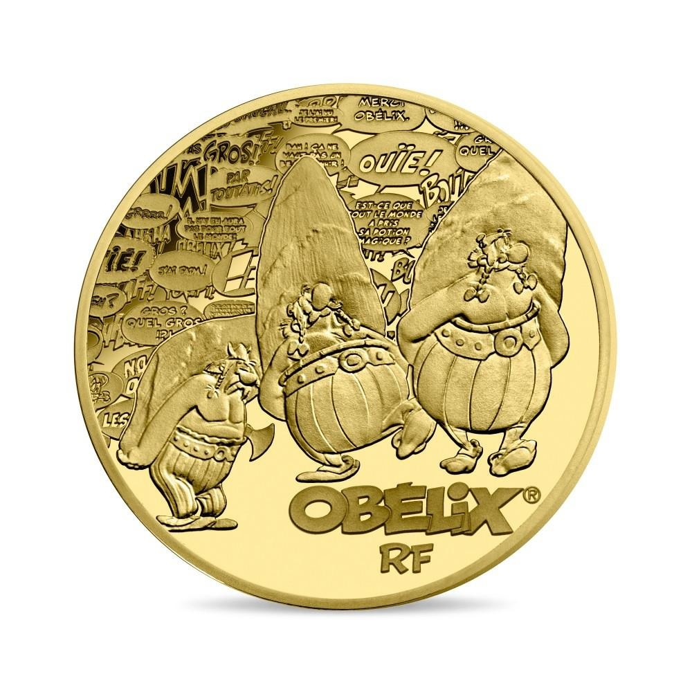 50 euro France 2019 Proof gold - Asterix Obverse (zoom)