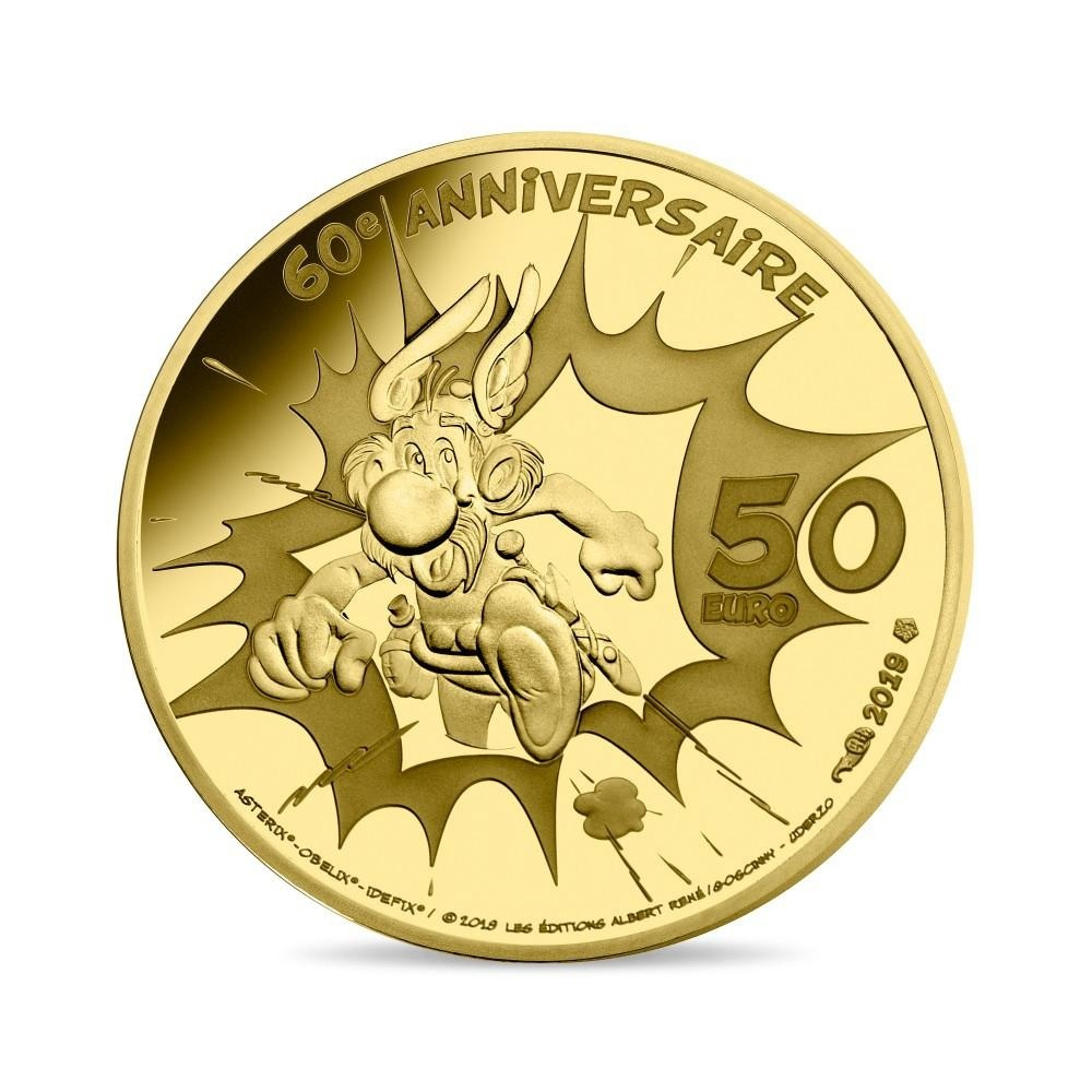 50 euro France 2019 Proof gold - Asterix Reverse (zoom)