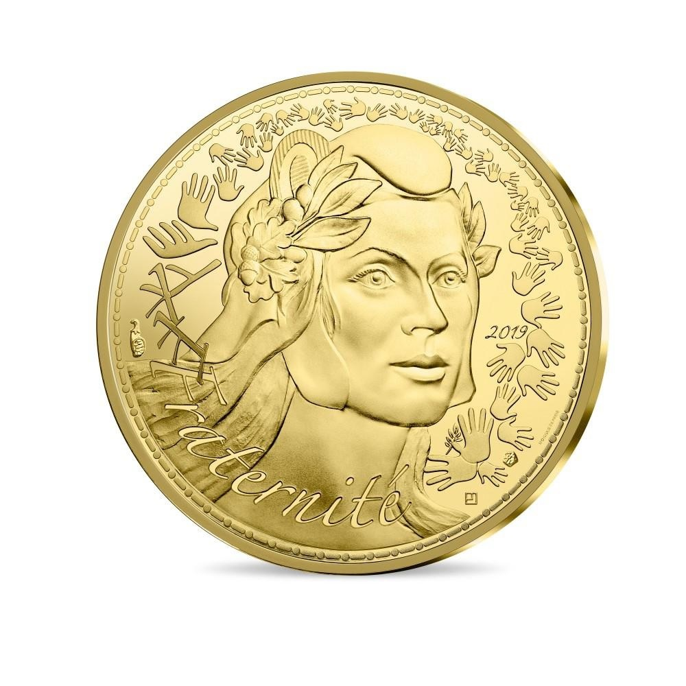 5000 euro France 2019 Proof gold - Marianne Obverse (zoom)