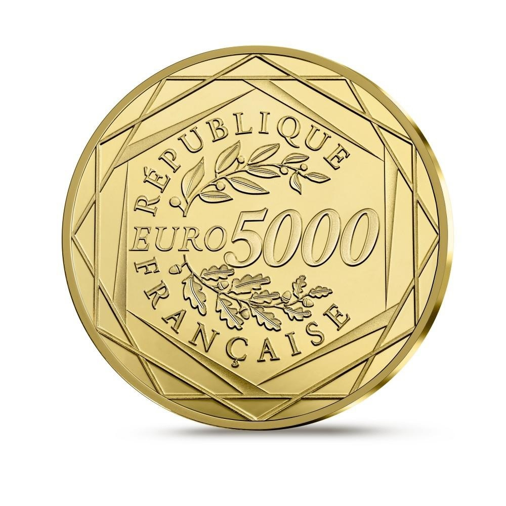 5000 euro France 2019 Proof gold - Marianne Reverse (zoom)