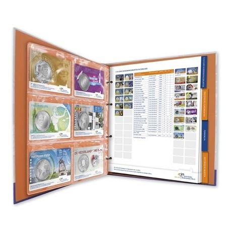 Album collector Monnaie Royale des Pays-Bas - Coincards (intérieur)