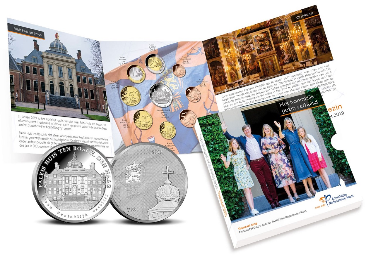 BU coin set Netherlands 2019 - Move of the Royal family (inside) (zoom)