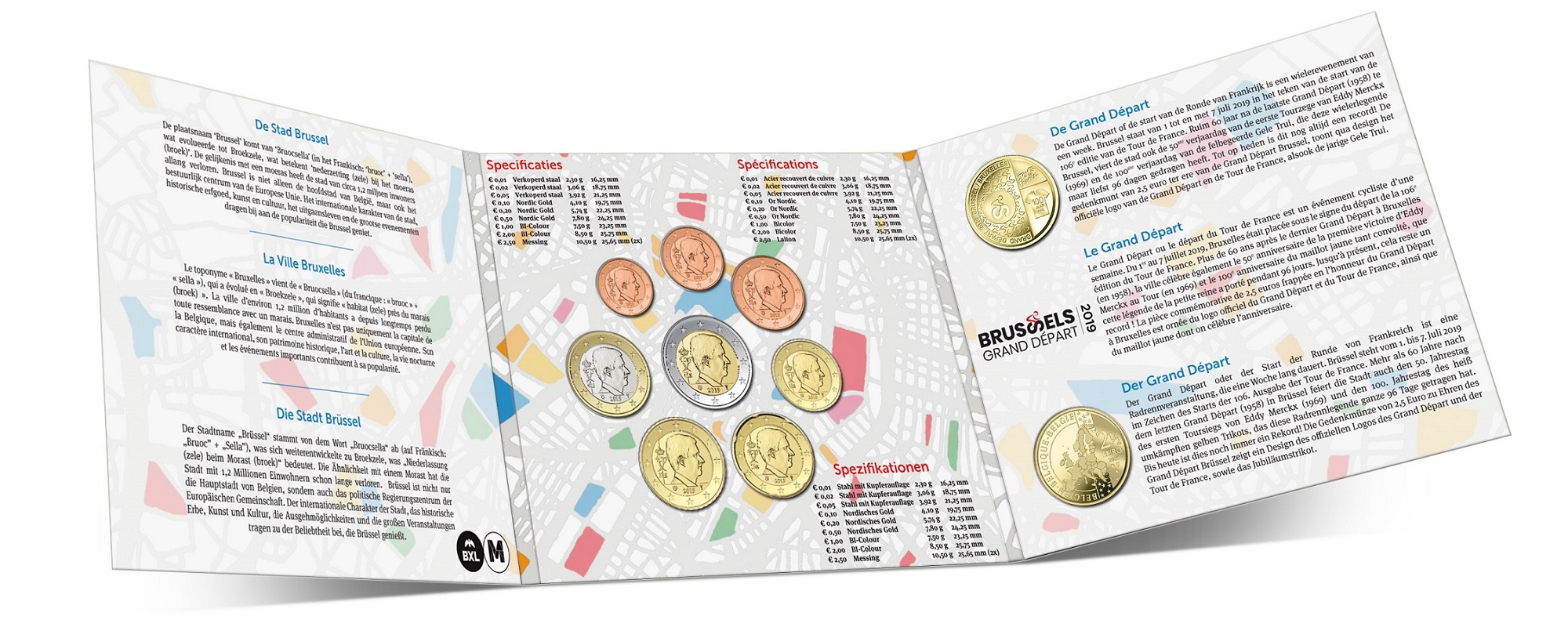 Brilliant Uncirculated coin set Belgium 2019 (inside) (zoom)