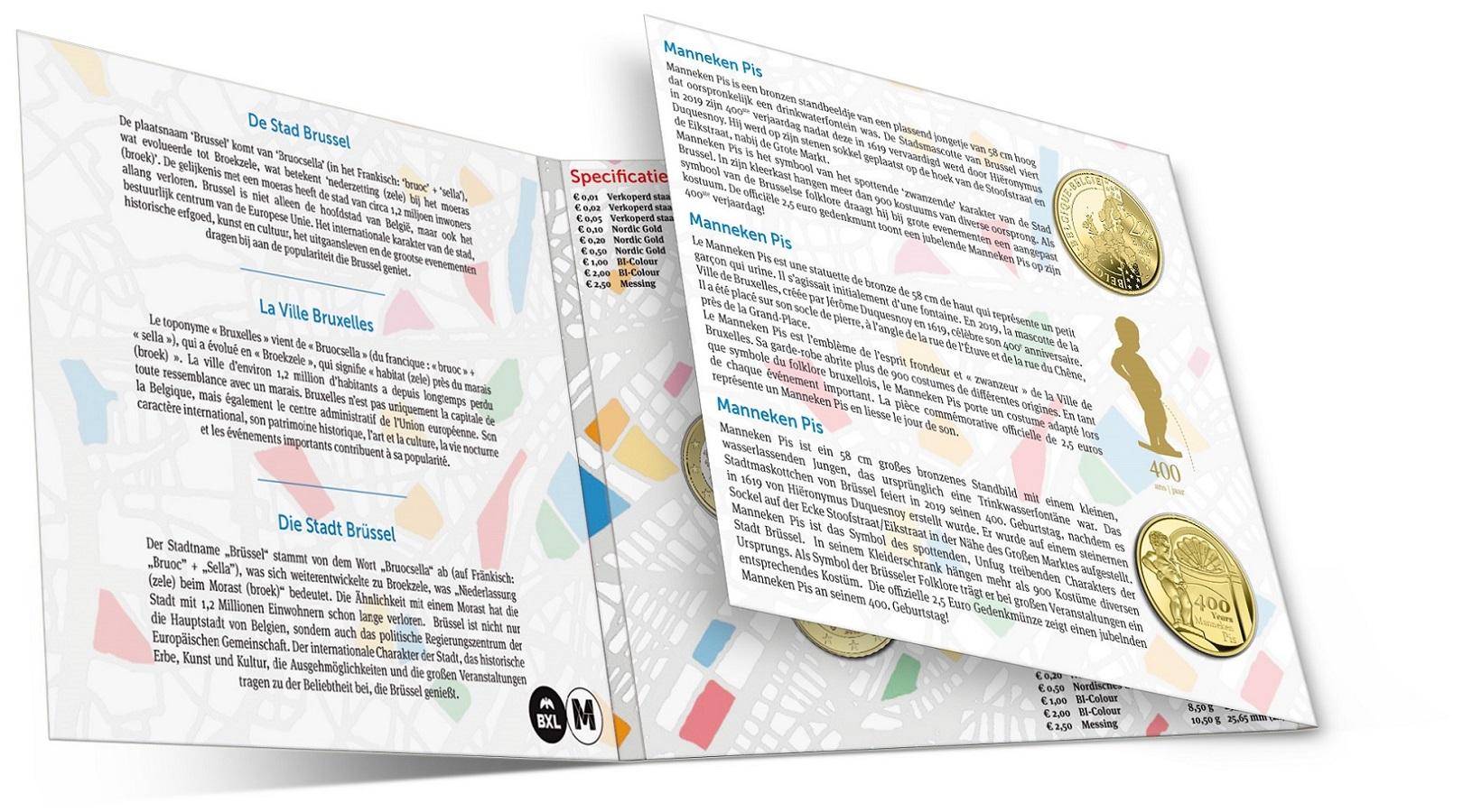 Brilliant Uncirculated coin set Belgium 2019 (open) (zoom)