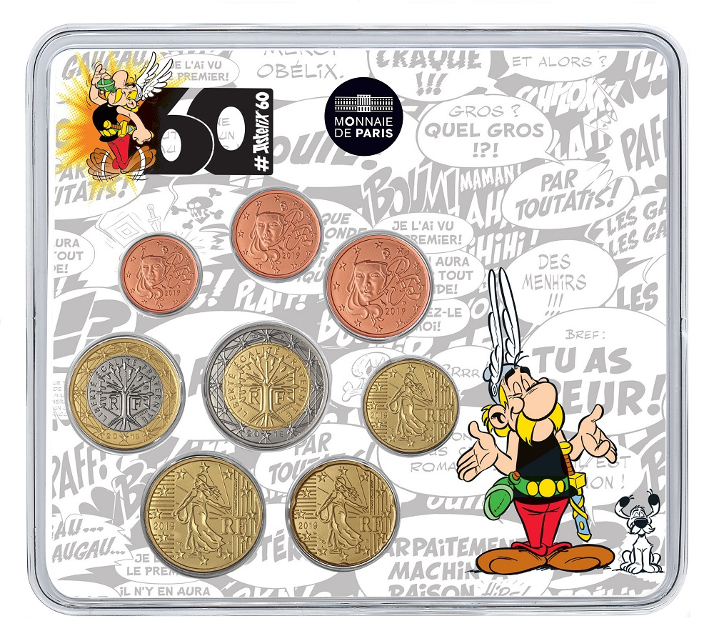 Brilliant Uncirculated mini-set France 2019 - Comic hero Astérix Front (zoom)