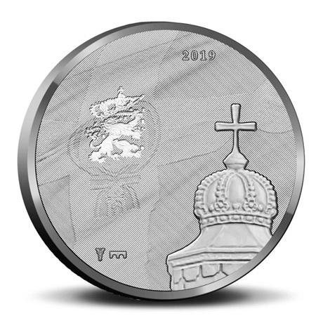 Coffret BU Pays-Bas 2019 - Déménagement de la famille royale (avers médaille)