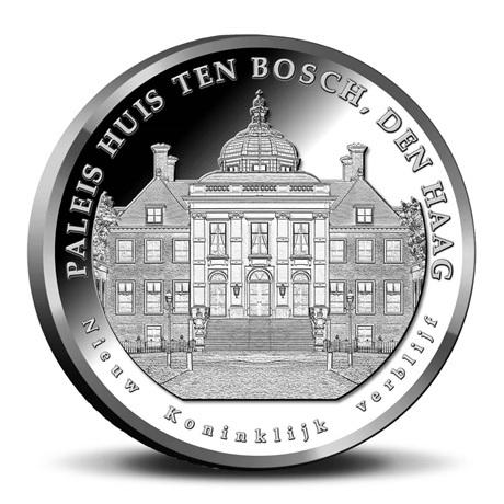 Coffret BU Pays-Bas 2019 - Déménagement de la famille royale (revers médaille)