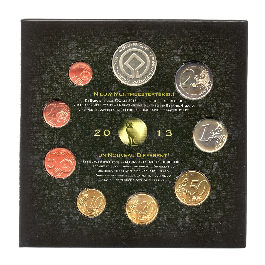 (EUR02.CofBUFDC.2013.Cof-BU.000000001) Brilliant Uncirculated coin set Belgium 2013 (inside back) (zoom)