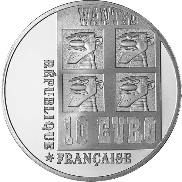 (EUR07.ComBU&BE.2009.1000.BE.COM9) 10 euro France 2009 Proof silver - Lucky Luke Obverse (zoom)