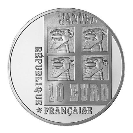 (EUR07.ComBU&BE.2009.1000.BE.COM9) 10 euro France 2009 argent BE - Lucky Luke Avers