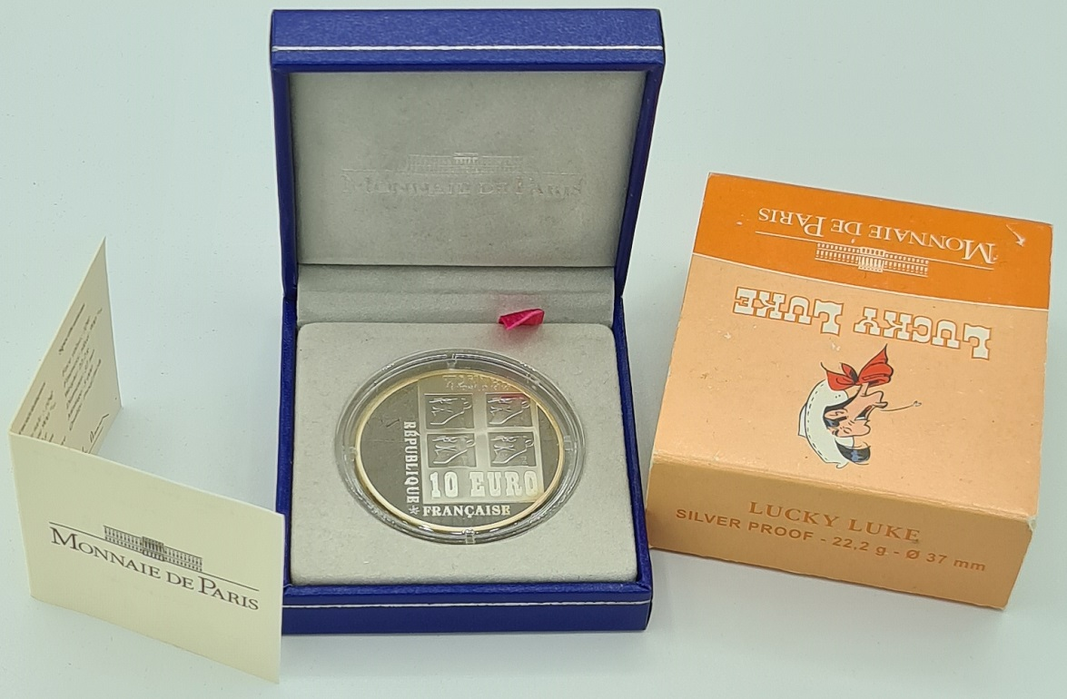 (EUR07.ComBU&BE.2009.10041258930000) 10 euro France 2009 Proof silver - Lucky Luke Obverse (zoom)