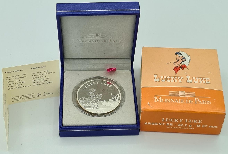 (EUR07.ComBU&BE.2009.10041258930000) 10 euro France 2009 Proof silver - Lucky Luke Reverse (zoom)