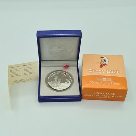 (EUR07.ComBU&BE.2009.10041258930000) 10 euro France 2009 argent BE - Lucky Luke Revers