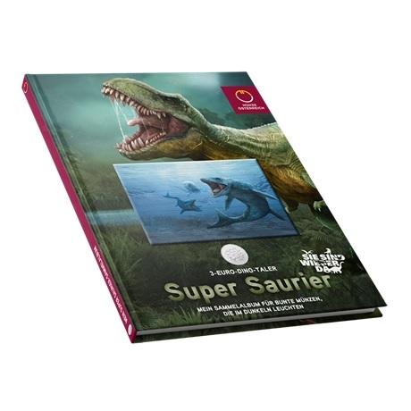 (MATMünzeÖ.Alb&feu.Alb.24298) Album collector Monnaie d'Autriche - Dinosaures tout en couleurs (fermé)