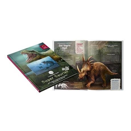 (MATMünzeÖ.Alb&feu.Alb.24298) Album collector Monnaie d'Autriche - Dinosaures tout en couleurs (ouvert)