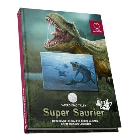 (MATMünzeÖ.Alb&feu.Alb.24298) Album collector Monnaie d'Autriche - Dinosaures tout en couleurs